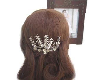 Myrtle hair comb bridal comb wedding, vintage wedding Myrlte comb bridal hair Crown tiara
