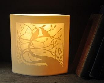 Tregony Tree Ellipse Porcelain Lamp