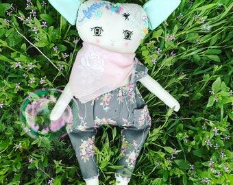 Art Doll Fairy. Forest Fairy Doll. Fabric Doll Fairy. Rag Doll Fairy. Forest Elf Doll. Pixie Doll. Soft Doll. Heirloom Doll. Nursery Decor.