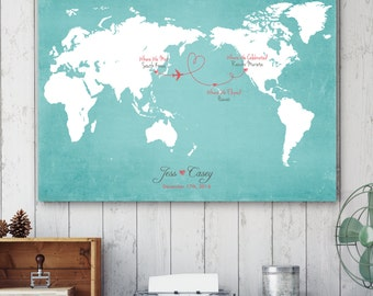 Opposite world map etsy unique wedding guestbook wedding guest book alternative map wedding map guest book opposite gumiabroncs Choice Image
