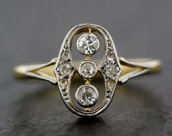 Antique Engagement Ring - Art Deco Diamond Engagement Ring - Art Deco Engagement Ring