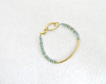 Gold Noodle Bracelet Gold Tube Bracelet Czech Glass Picasso Teal Czech Glass Beads Gold Hammered Oval Artisan Bracelet Designer Bracelet