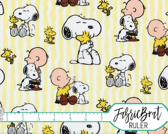 SNOOPY STRIPE Fabric by the Yard, Fat Quarter Snoopy Fabric Peanuts Fabric Charlie Brown Fabric Quilting Fabric 100% Cotton Fabric t5-23
