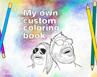 Custom Coloring Book by Tried But Dyed