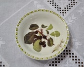RESERVED Vintage Queens Hookers Fruit Soup Cereal Bowl Cherry Blossom Royal Horticultural Society India PanchosPorch