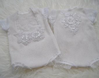 Lace Romper, White, Newborn Photo Prop, Newborn Romper, Baby Romper, Newborn Outfit, Newborn Props, Newborn Girl Coming Home Outfit