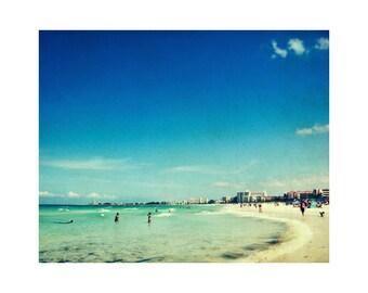 Vintage beach photography, retro beach art, wanderlust photography, travel photography print, ocean wall art, Florida art, Siesta Key art