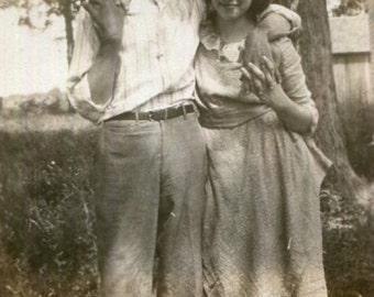Vintage Photo..Just Pals, 1920's Original Found Photo, Vernacular Photography