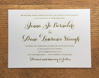 Gold foil wedding invitation, BGF01-JB0613