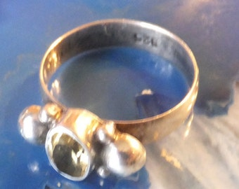 Citrine and Sterling Silver Ring.... size 7.5 only