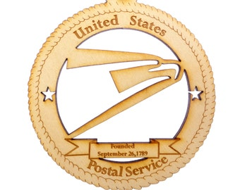 USPS Ornament - Postal Worker Gifts - Mail Carrier Gifts - Gift for Mailman - Mailman Ornament - Postal Worker Retirement Gift