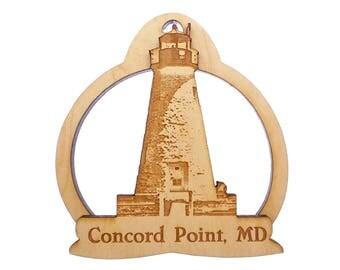 Concord Point Lighthouse Ornament- Harve de Grace, MD - Chesapeake Bay Lighthouse - Lighthouse Christmas Ornament