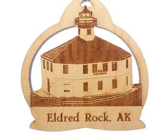 Eldred Rock Lighthouse Ornament - Alaska Lighthouse - Lynn Canal Alaska - Lighthouse Christmas Ornament