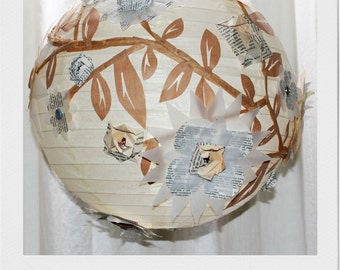 Natural Flowers paper lantern lampshade