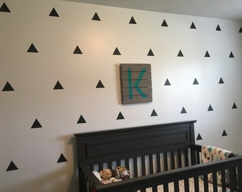 Baby Nursery Wall Triangles - Modern Nursery Decal - Modern Baby - Wall decals - Kids Bedroom - Modern Nursery Stickers - Large Triangles
