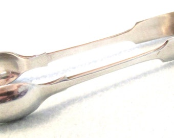 FREE POST - Antique Sugar Nips, Sugar Tongs, Fiddle Pattern, Plain Design, Silver Plated Tongs, Antique Serving, Afternoon Tea Tongs, 1910's