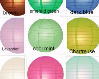 """Round Paper Lanterns, 8"""", 10"""", 12"""" 14"""", 16""""  Single Pack. 4"""" Only do come in 10 PACK"""