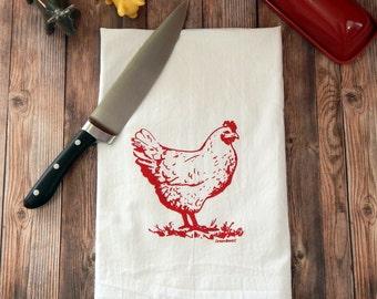 Chicken Flour Sack Tea Towel