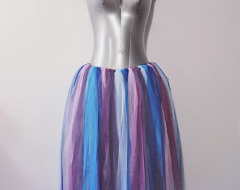 Purple and Blue Soft Tulle Fairy Skirt