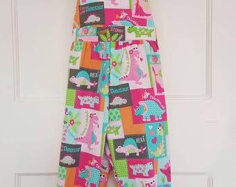 Baby girl romper, dinosaur, dino  romper, baby girl clothing, baby shower gift, uk