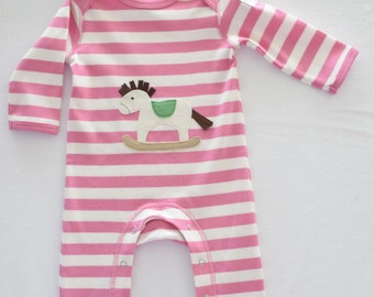 Rocking horse  romper 3-6mths, 6-12mths, 12-18mths for baby girls
