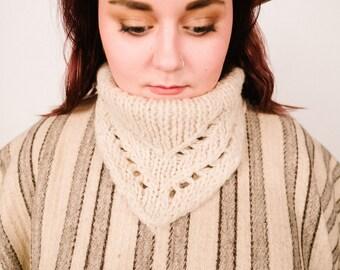Vintage Striped Wool Poncho