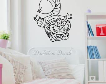 Cheshire Cat – Alice In wonderland Decal – Cheshire Cat Wall Decal – Cheshire Smile Decal - Wall Decal