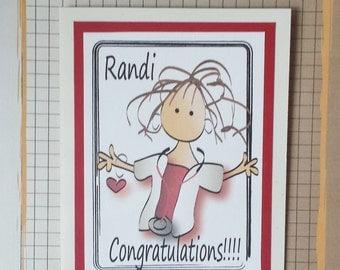 Nursing Graduation Card - Nurse Graduation Card - Caregiver Graduation Card - RN Graduation Card - CNA Graduation Card and Envelope Set