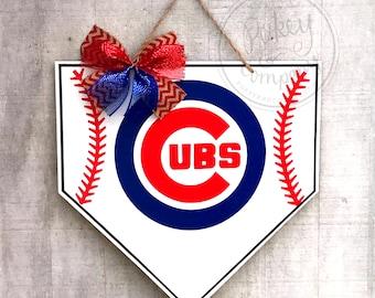 Chicago Cubs Home Plate Door Hanger