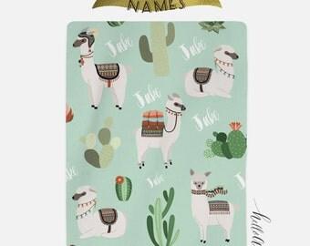 Llama gifts - Llama baby - Baby blanket - Baby blanket personalised - Custom baby blanket - Custom blanket - Personalized Baby blanket