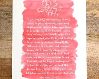 Chi Omega Symphony Calligraphy Print