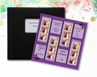 Photo booth Guest Book in Purple