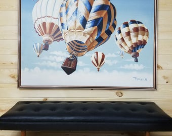 """SaLe Hot Air Balloon Festival Painting by Franklin 62""""x50"""" SEE SHIPPING DESCRIPTION"""
