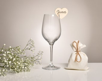 Wedding Place Card, Name Place Cards, Glass Charms Rustic Wedding Favours, Wedding Place Cards, Place Settings.