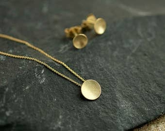 minimalist gold necklace, solid gold necklace, 14K gold necklace, Gift for her, minimal jewelry, delicate necklace, delicate gold jewelry