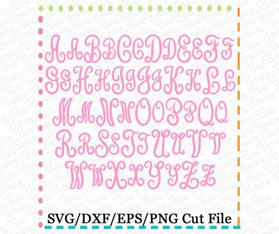 Classic Script Monogram Font SVG Eps DXF Cutting File