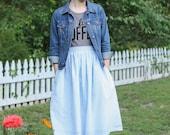 Seersucker Skirt: Southern Magnolia