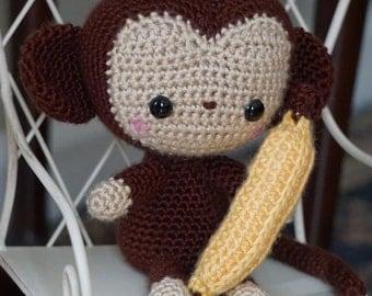 Cute Monkey with Banana Amigurumi