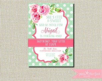 Black White Stripe Birthday Invitation Floral Birthday - Birthday invitation nz