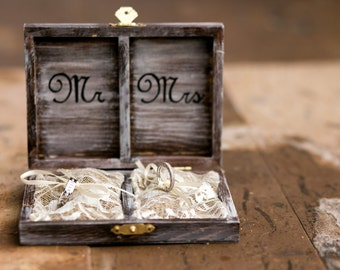 Ring Bearer Box, Ring Bearer Pillow Alternative, Rustic Wedding Ring Bearer Box, Rustic Ring Box, Wedding Ring Boxes, Ring Box Wedding