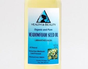 16 oz MEADOWFOAM SEED OIL Organic Carrier Expeller Pressed 100% Pure