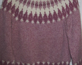Vintage Made in Scotland  by Nethy-  Hand-Knitted Ski Winter Sweater  Medium see details