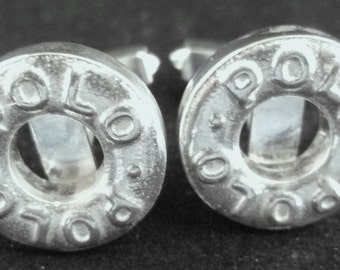 Top Quality Hand Crafterd Hallmarked Sterling Silver polo Mint Cufflinks