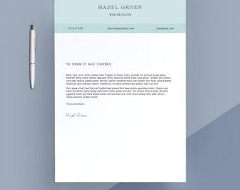 modern cover letter template cover letter letterhead word template simple cover letter - Cover Letter Letterhead