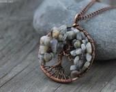Tree Of Life pendant  Wirewrapped jewelry Family Tree Copper Necklace WireWrapped Pendant Wire wrapped tree Wirewrap jewelry Christmas gift