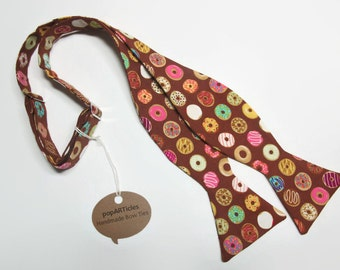 Freestyle Donut Bow Tie - Doughnut Bow Tie - Self-Tie Bow Tie - Food Bow Tie - Pastry Bow Tie - Donut Gift - Doughnut Gift