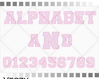 Varsity Alphabet, alphabet svg, chevron font SVG, varsity letter, varsity font svg, alphabet letters, chevron svg,  SF00006
