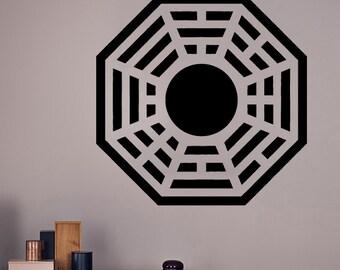 Wall Decal, Dhama Decal, Wall Art, dhamma sticker, Hinduism art, Buddhism vinyl, Sikhism decor, Jainism sticker, Yoga decal, Spiritualism