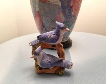 Vintage Blue Jay Bird Figurine Bird Statue