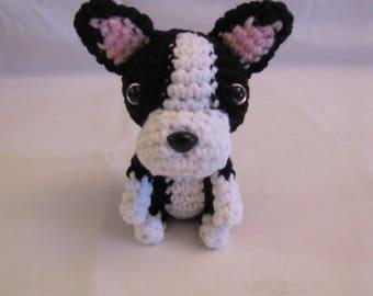 BOSTON TERRIER - Crochet Amigurumi - Crochet Dog, Crochet Puppy